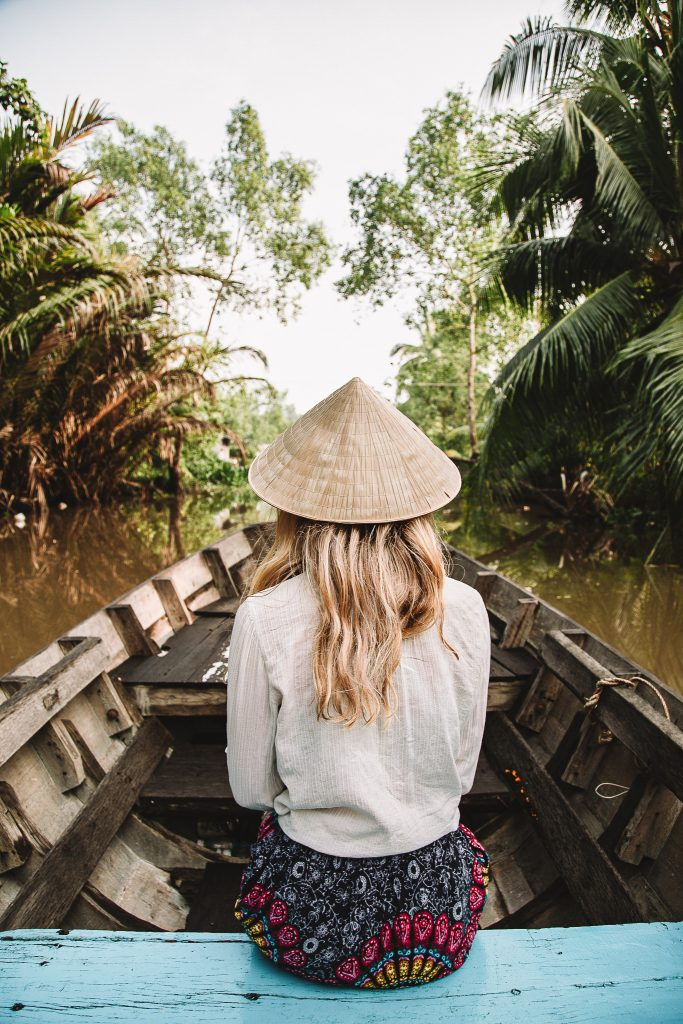 The green canals of the Mekong Delta